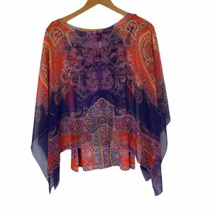 Style & Co. Tank Top & Shawl Layered Blouse